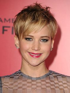 Jennifer Lawrence - cropped pixie hair, short hairstyles