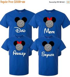 40% OFF 1 Day Only Sale Family Epcot Shirt or Vacation Attire for Disney World or Disneyland