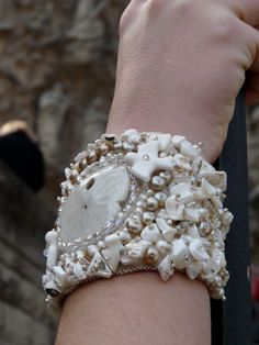 Gorgeous bead embroidered cuff by bridalblingboutique on Etsy, $250.00