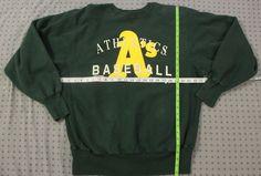 VIntage Athletics Sweatshirt Sz XL Green Champion USA Made Crew Neck Pullover #Champion #Sweatshirt