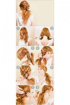 Boho Braid I love to try different hair style, BOHO braids/hair styles are one of my favorites. I'll surely try this one once my i got my hair back. :) You can check the link on how to create this. Summer Hairstyles, Pretty Hairstyles, Cute Hairstyles, Braided Hairstyles, Easy Hairstyle, Creative Hairstyles, Amazing Hairstyles, Natural Hairstyles, Hairstyle Ideas