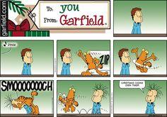 ❤ =^..^= ❤  Garfield Comic Strip on GoComics.com.  Jon is bald????????