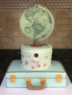 """Traveling from Miss to Mrs."" Bridal Shower Cake"