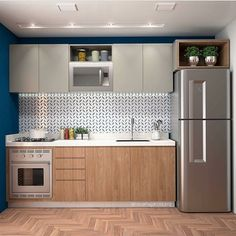 your kitchen design will maximize your small kitchen idea 41 Kitchen Design Small, Interior Design Kitchen, Kitchen Remodel Small, Kitchen Furniture Design, Home Kitchens, Tiny House Kitchen, Small Apartment Kitchen, Kitchen Decor Apartment, Kitchen Design