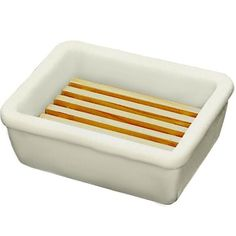 White Porcelain Soap Dish with Wooden Grate Harold Import Company http://www.amazon.com/dp/B0007SWP8K/ref=cm_sw_r_pi_dp_gWu0ub1TTDNG4