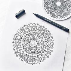 Mandala Madness! I've been drawing so much lately!! Perfect start to the new year! :D #mandala #mandalatattoo
