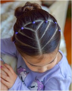 Easy Toddler Hairstyles, Easy Little Girl Hairstyles, Girls Hairdos, Kids Curly Hairstyles, Baby Girl Hairstyles, Box Braids Hairstyles, 1980s Hairstyles, Hairstyles For Toddlers, Toddler Hair Dos