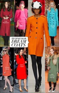 A bright, fun, coat completes a winter outfit.