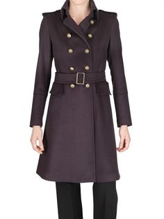 ANTONIO CROCE - WOOL AND CASHMERE FELT TRENCH COAT - LUISAVIAROMA - LUXURY SHOPPING WORLDWIDE SHIPPING - FLORENCE - For Kurt from Tony
