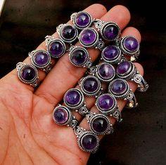 Natural Purple Amethyst Rings, AAA Amethyst Gemstone Rings, 925 Silver Plated Mix Shape Rings Size 6 To Jewelry Turquoise Gemstone, Amethyst Gemstone, Purple Amethyst, Amethyst Rings, Gemstone Rings, 925 Silver, Sterling Silver Rings, Gold And Silver Bracelets, Silver Earrings