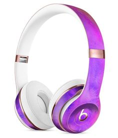 Washed Dyed 2142 Absorbed Watercolor Texture Full-Body Skin Kit for the Beats by Dre Solo 3 Wireless Headphones The Active Noise Cancelling Over-Ear Headphones Cute Headphones, Girl With Headphones, Over Ear Headphones, Som Bluetooth, Bluetooth Headphones, Wireless Headset, Beats By Dre, Accessoires Iphone, Leica