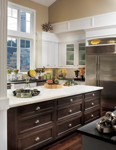 Java stain !!  Cornerstone Kitchens in Maple - Canyon Creek