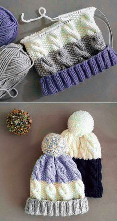 Free Knitting Pattern , Cozy Cable Knit Hat - Free Pattern , Free Knitting Patterns Source by A. Knitted Hats Kids, Baby Hats Knitting, Knitted Blankets, Free Knitting, Vogue Knitting, Knit Hats, Baby Blankets, Kids Crochet Hats Free Pattern, Cable Knitting Patterns