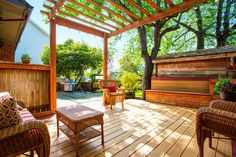 Check out 100+ wooden deck ideas with this huge series of photographs. Decks of all sizes, shapes, locations and designs.