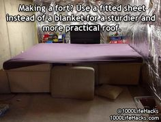 Fitted sheets for forts!