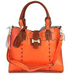 Piękna i nowoczesna torebka damska ROMINA pomarańczowa.