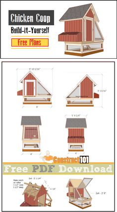 Chicken coop plans, free PDF download, cutting list, and shopping list.