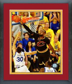Must have product now available: Cleveland Cavalie... Get it here! http://www.757sc.com/products/cleveland-cavaliers-lebron-james-nba-finals-game-7-curry-block-team-color-matted-framed-8x10-photo?utm_campaign=social_autopilot&utm_source=pin&utm_medium=pin