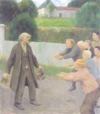 Raringen Den gamle statist og ertekrokene by Erik Theodor Werenskiold