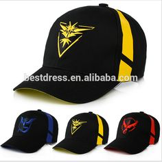 128b979938e Pikachu Anime Pokemon Go Cosplay Cap women Hip Hop Team Valor Team Mystic  Team Instinct Bone Dad Hat men Baseball snapback Caps