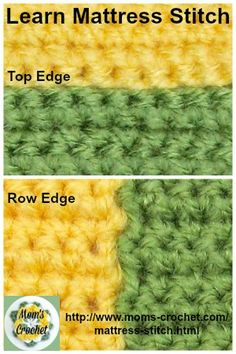 Mattress Stitch results in a beautiful, even, flat join for your crochet work. This is a free crochet lesson.