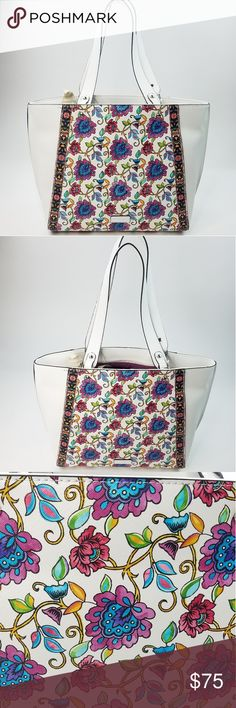 d6319e376df52 Nanette Lepore Tabetha Floral Shoulder Bag Nice shoulder bag Beautiful  Pattern NEW with Tags Height 13