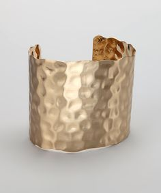 Gold Hammered Cuff -- how I kinda picture the Patronus bracelet to look