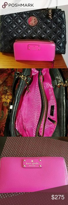 TODAY 230 👜Authentic Kate Spade purse andwallet Quilted and leather with gold chain and wallet purse comes with a dust bag kate spade Bags Satchels