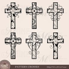 Great free clipart, png, silhouette, coloring pages and drawings that you can use everywhere. Photo Album Scrapbooking, Scrapbook Albums, Digital Scrapbooking, Purple Butterfly Wallpaper, Cross Clipart, Zentangle, Wood Crosses, Crosses Decor, Cross Art