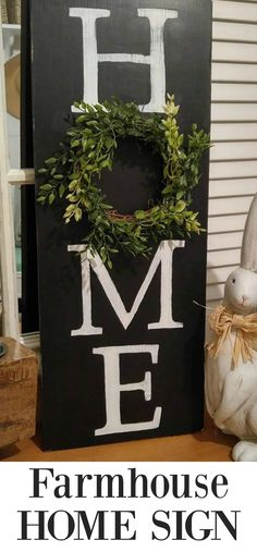 Distressed Black Home Sign with Wreath - choose white or cream font. Also choose from two different sizes and whether you'd like a vertical or horizontal sign. Home Styles Exterior, Workout Room Home, Interior Design Layout, Boho Chic Living Room, Kids Room Wall Art, Home Office Decor, Home Decor, Trendy Home, Mason Jar Crafts