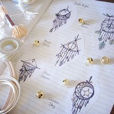 moon dream catcher coloring page instant download print your own coloring pages adult coloring. Black Bedroom Furniture Sets. Home Design Ideas