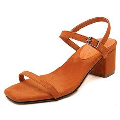 36fa4aee1c4 Womens Suede Simple Style Chunky Heel DM US -- Check out the image by  visiting the link. (This is an affiliate link). Sandals For Women