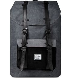 Black Crosshatch/Black Little America Backpack