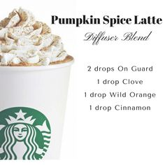 A diffuser blend for cold....mmm yummy! Pumpkin everything is coming…