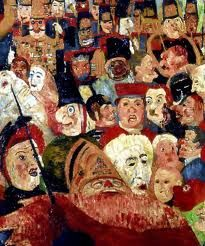 Christ's Entry into Brussels in 1889 (crowds detail)