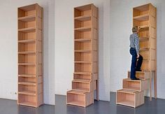 Das praktische Platzwunder: ein Treppenregal