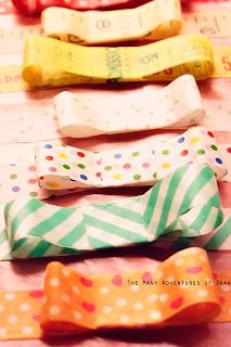 How to make super cute gift bows with washi tape!