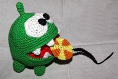 Amigurumi Om Nom (Cut the Rope) - FREE Crochet Pattern / Tutorial