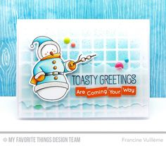 Toasty Greetings, Toasty Greetings Die-namics, Large Grid Stencil - Francine Vuillème  #mftstamps