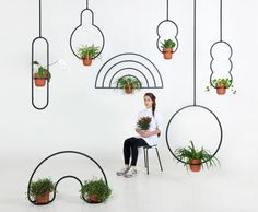 "Designer Katerina Kopytina , has designed a collection of hanging pots, she has named the Kuiper Belt. Katerina mentions, ""The Kuiper Belt is part of our Solar System, and is located beyond the . Hanging Flower Pots, Hanging Planters, Small Plants, Indoor Plants, Indoor Herbs, Indoor Gardening, Air Plants, Pot Plante, Plant Holders"