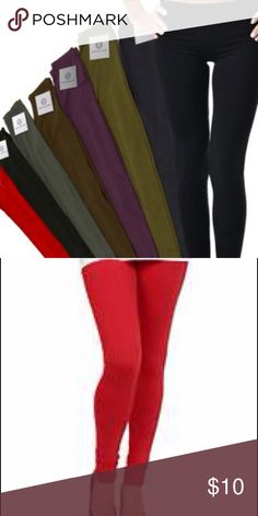 **New** Red Leggins - Very Trendy **New** Red Leggins - Very Trendy. 95% Cotton 5% Spendex. Bundle and save !! Wet Seal Pants Leggings