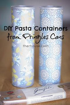DIY Pasta Container from Pringles Can - therhouse.com