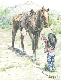 Hope I get my ranch one day and Jake gets his horse! Cowboy Pictures, Horse Pictures, Art Pictures, Cowboy Pics, Photos, Cowboy Horse, Cowboy Art, Horse Artwork, Cowboy Theme
