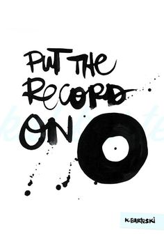 let the music play...... Vinyl record