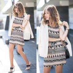 Get this look: http://lb.nu/look/8154365  More looks by Helena Cueva: http://lb.nu/miaventuraconlamoda  Items in this look:  The Desire Shop Dress, Buylevard Blazer   #chic #elegant #street