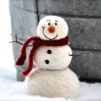 snowman felting kit  Better Homes and Garden's 2012 Holiday Crafts  #DIY