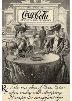 """A day of shopping for, Gilded Age Society ladies, resting while drinking Coca-Cola. """"Revives And Sustains"""". ~~ {cwl} ~~ (lauralee60)"""
