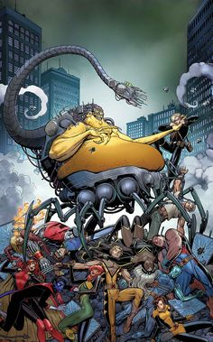 In MOJOWORLD, JEAN GREY and her X-Men teammates take the fight to MOJO! But Mojo's there with a hometown advantage, so this fight is far from over. Can the X-MEN prevail and stop the absolutely absurd Mojo-ification of midtown Manhattan? Comic Book Artists, Comic Book Characters, Marvel Characters, Comic Books Art, Marvel Comics, Marvel Villains, Marvel Heroes, X Men Azul, Comic News