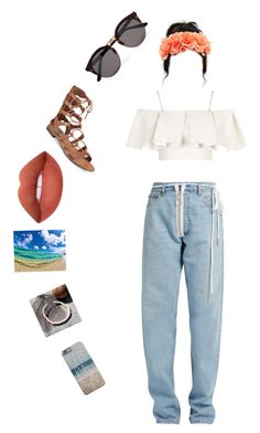 """I am a girl who loves my Island, and the girl who loves the sea..."" by nanixmc ❤ liked on Polyvore featuring art"