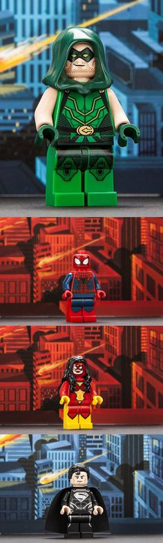 Limited-edition versions of Green Arrow, Superman, Spider-Man and Spider-Woman
